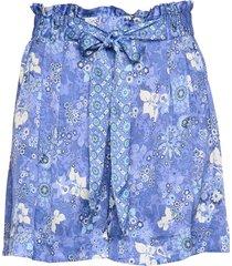 pretty printed shorts shorts paper bag shorts blå odd molly