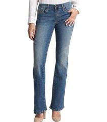 jeans mujer perfect boot medium cooper azul gap