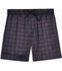 mens multi geometric print dress shorts