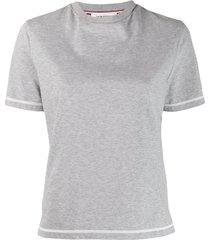 grey contrast stitch t-shirt