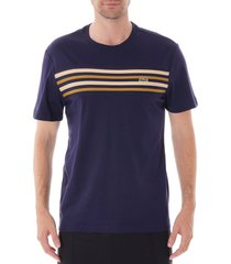 crew neck contrast stripe t-shirt - blue marine th8564-166