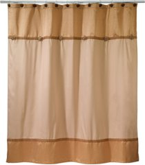 avanti braided medallion colorblocked shower curtain bedding