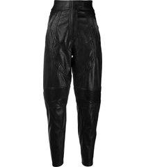 stella mccartney faux leather riding trousers - black