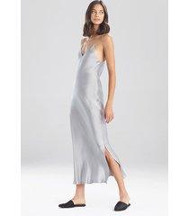 natori key essentials silk gown, women's, 100% silk, size l