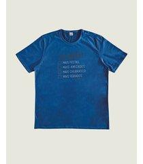 camiseta check list em meia malha wee! azul escuro - g