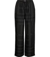 vizelle pantalon met rechte pijpen zwart totême