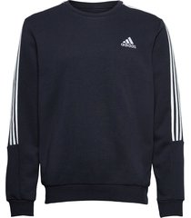 essentials fleece cut 3-stripes sweatshirt sweat-shirt tröja blå adidas performance