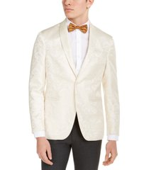 kenneth cole reaction men's slim-fit ivory tonal paisley evening jacket, created for macy's