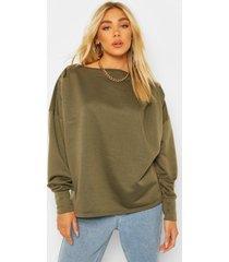 geplooide sweater, khaki