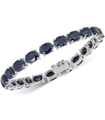 black sapphire tennis bracelet (32 ct. t.w.) in sterling silver