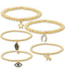 rachel rachel roy gold-tone 5-pc. set stretch bracelets