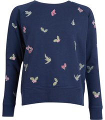 barbour hedley embroidered knit sweater