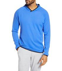 men's cutter & buck traverse hoodie, size xx-large - blue