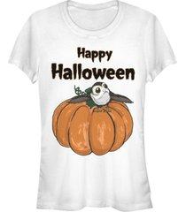 fifth sun star wars women's porg on a pumpkin halloween short sleeve tee shirt