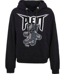 philipp plein hoodie sweatshirt teddy bear