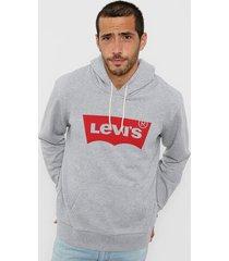 buzo gris levi's cv graphic po hoodie batwing