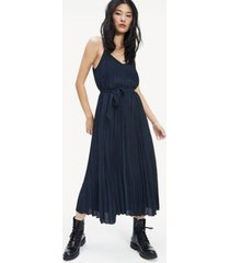 tommy hilfiger women's pleated slip dress sky captain - 10