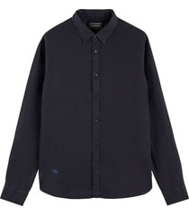 overhemd classic linnen donkerblauw