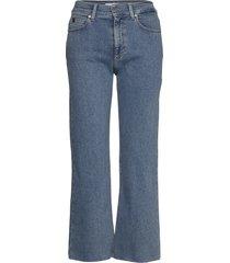 wide leg crop pant vida jeans blå calvin klein