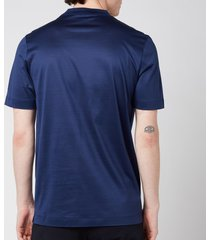 canali men's double collar crewneck t-shirt - navy - it 52/xl