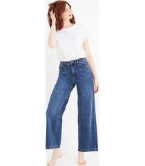 szerokie jeansy z wysoką talią