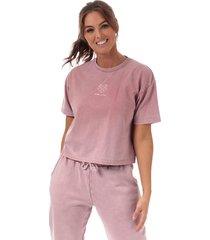 womens wash crop t-shirt