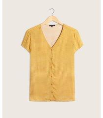 blusa manga corta con pechera