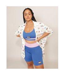 bermuda esportiva color block baw clothing azul