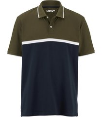 poloshirt men plus marine::olijf