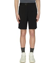 belted tailored shorts
