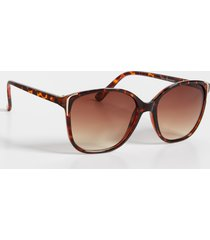 maurices womens oversized cat eye sunglasses with metal detail brown
