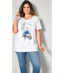 shirt sara lindholm wit::blauw