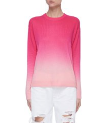 'gleeson' dip dye crewneck sweater