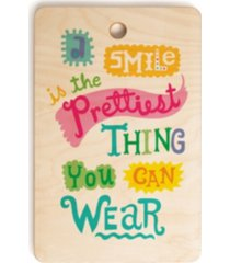deny designs a smile is the prettiest thing you can wear rectangle cutting board