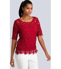 blouse alba moda rood