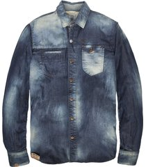 pme bare metal denim overhemd