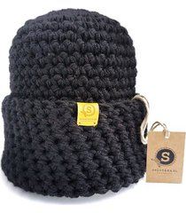 crazycolor czapka czarna