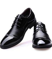 zapatos oxford de costura y ecocuero e-thinker para hombre-negro
