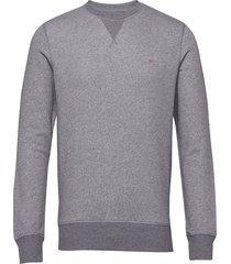 the original c-neck sweat sweat-shirt trui grijs gant