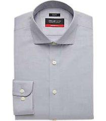 awearness kenneth cole awear-tech gray slim fit dress shirt