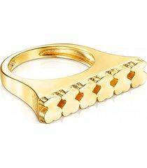 anillo straight de plata vermeil tous