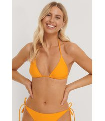 na-kd swimwear triangle bikini top - yellow