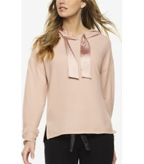 felina cozy hacci lounge hoodie with satin details