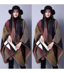 winter oversized thicken warm lattice scarf shawl dual purpose pashmina autumn w