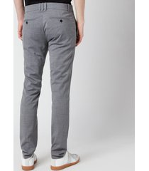 balmain men's slim wool trousers - grey - it 48/m