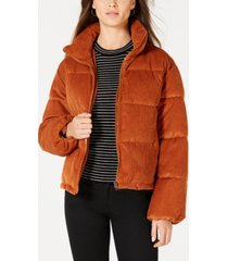 collection b juniors' cropped corduroy puffer coat