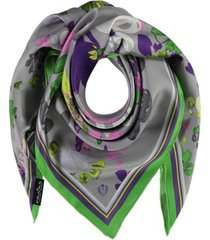 women's graphic floral square scarf