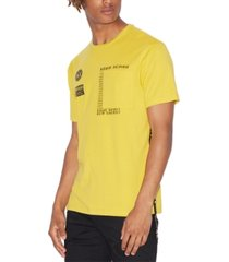 ax armani exchange men's extended side tape t-shirt