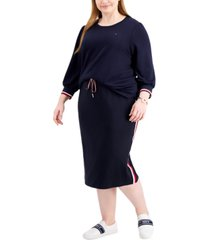 tommy hilfiger plus size 3/4-sleeve top, created for macy's