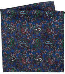 collection silk paisley & polka dot pocket scarf